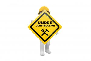 Baustellenschild - Website im Offline-Modus