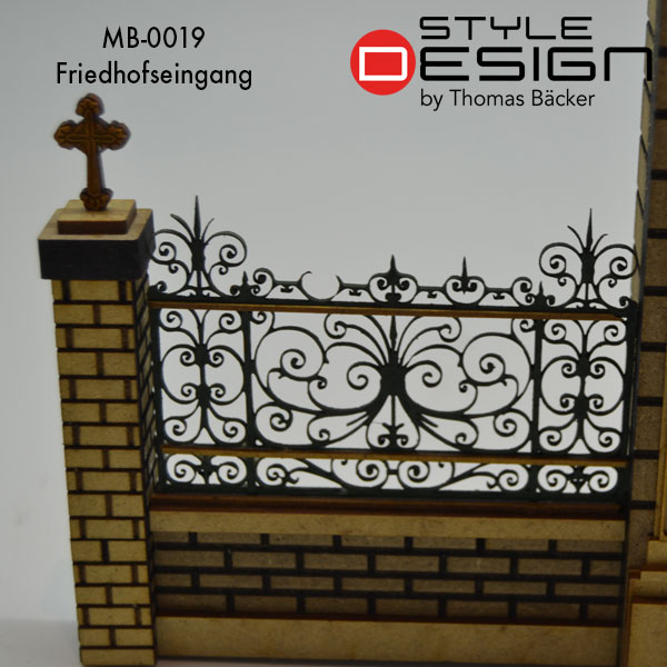 Detailed view cemetery gate