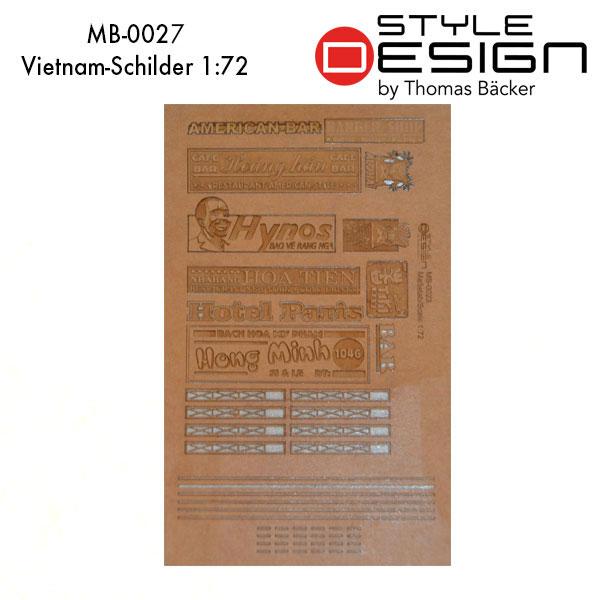 Lasercut Vietnamschilder 1:72