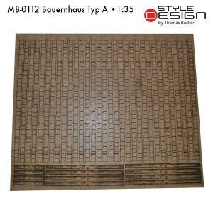 MB-0112-Bauernhaus-Typ-A Laserplatte Dach