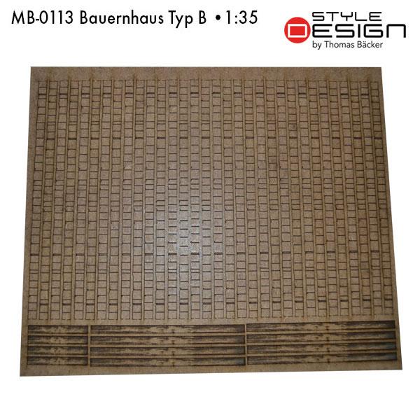 MB-0113-Bauernhaus-Typ-B Laserplatte Dach