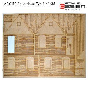 MB-0113-Bauernhaus-Typ-B Laserplatte Hausteile